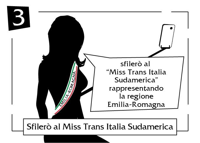 Sfilerò al Miss Trans Italia Sudamerica
